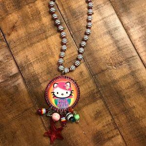 Tarina Tarantino Hello Kitty Pink Head Necklace
